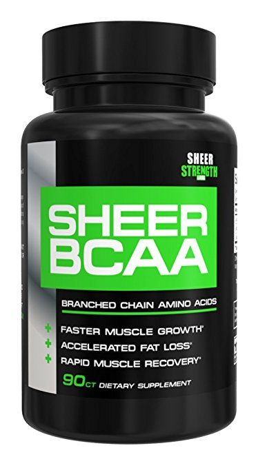 Sheer BCAA Branched Chain Amino Acids Supplement, Muscle Building Post Workout