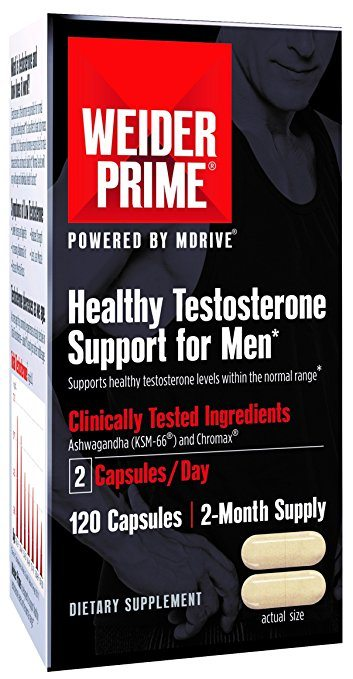 Weider Prime Healthy Testosterone Support for Men with Cordyceps