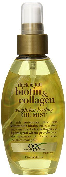 OGX Thick & Full Biotin and Collagen Weightless Healing Oil Mist - Biotin for Hair Growth