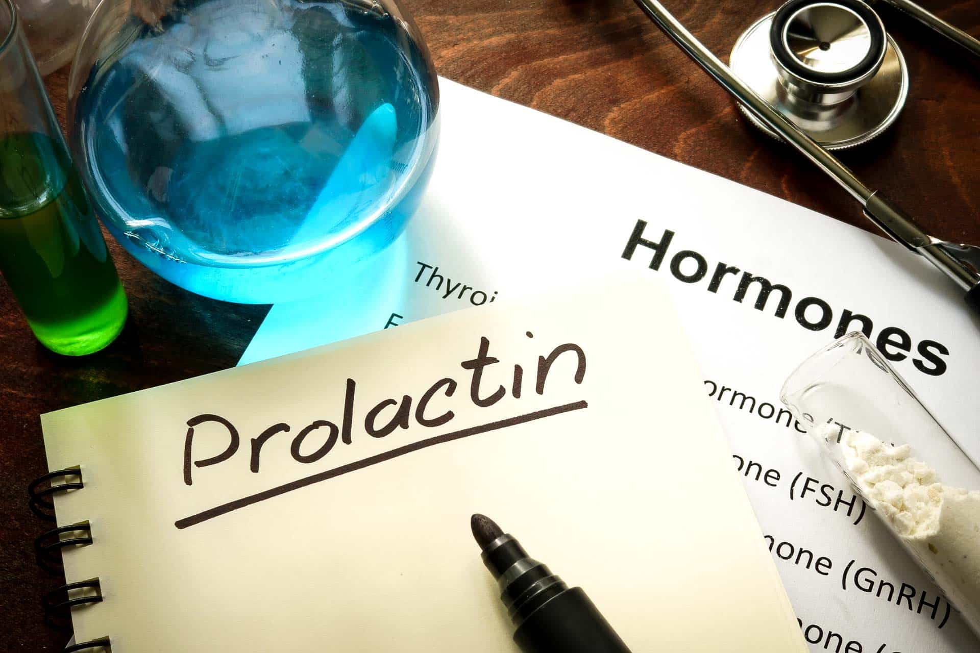 Prolactin inhibitors lab desk