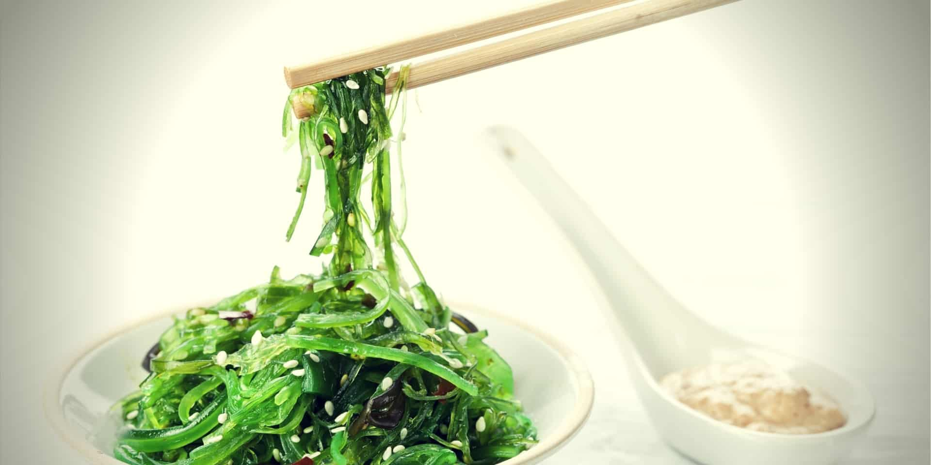 Iodine Testosterone bowl of Seaweed Salad sprinkled with Sesame Seeds