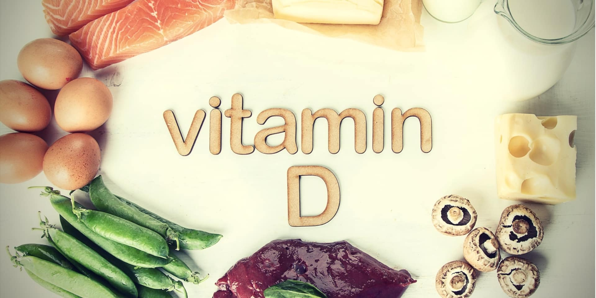 Vitamin D Testosterone Top view of natural foods rich in vitamin D